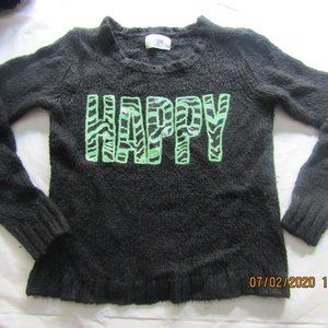 Justice 'HAPPY' Sweater